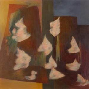 Hortensien 3 (Herbst), Acryl auf Leinwand 50x50, 01/2016