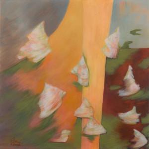 Hortensien 1 (Frühling), Acryl auf Leinwand 50x50, 02/2016