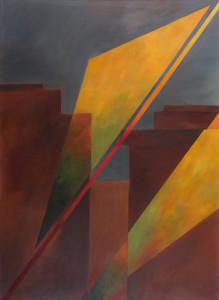 Licht-einfall 2 (Herbst), Acryl auf Leinwand 80x110, 02/2015