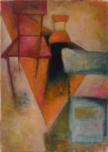 3 Stühle,  Acryl auf Pappe 50x70,  06/2000