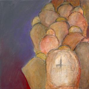 Meilensteine, Acryl auf Leinwand 20x20, 07/2016