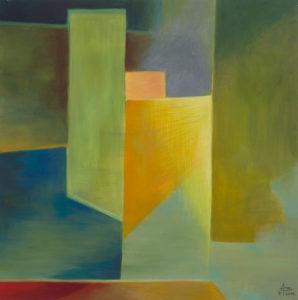 Schleuse, Acryl auf Leinwand 50x50, 04/2016