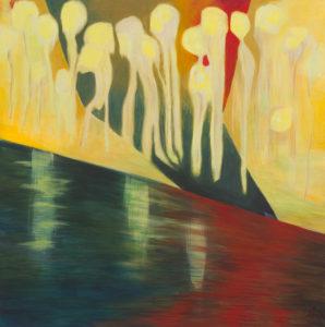 Rotes Meer 4, Acryl auf Leinwand 50x50, 06/2016