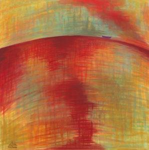 Rotes Meer 2,  Acryl auf Leinwand 50x50, 02/2016